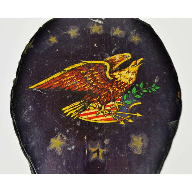 Early American Early American Eagle Decorated Fireplace Bellows For Sale - Image 3 of 11