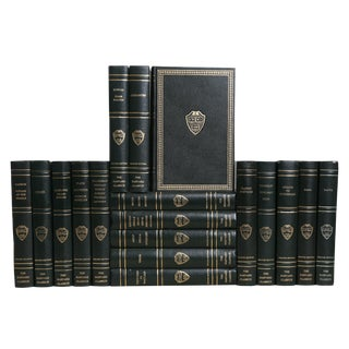 Harvard Classics in Emerald and Gilt, S/20 For Sale