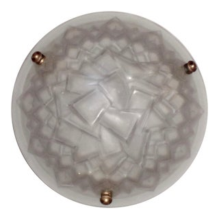 1930s French Art Deco Glass Bowl Chandelier For Sale