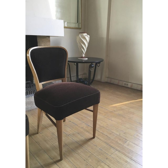 """Brown Jean Royere Documented Pair of Chairs Model """"Restaurant Drouant"""" For Sale - Image 8 of 9"""