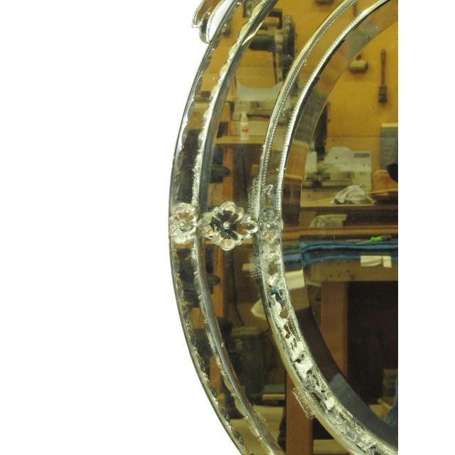 Glass Venetian Cut Glass Wall Mirror For Sale - Image 7 of 8