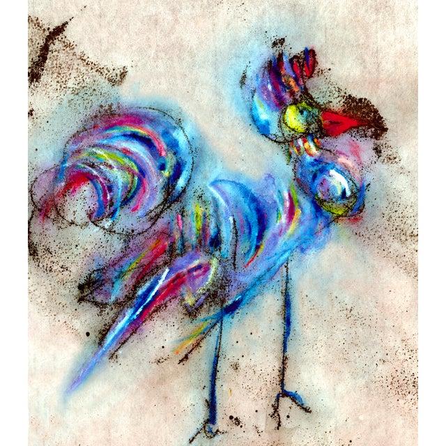 Blue Rooster #1 Fine Art Print Medium For Sale