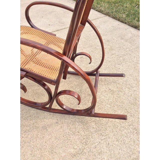 Mid Century Luigi Crassevig Thonet Style Bentwood Rocker For Sale - Image 10 of 12