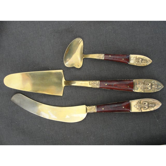 Thai Boxed Brass Dessert Flatware - Set of 19 For Sale In Tampa - Image 6 of 9