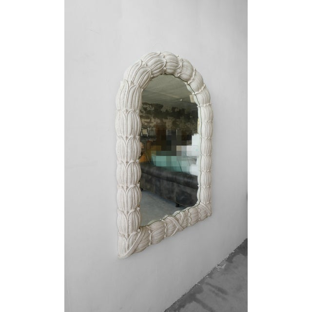 Huge Molded Concrete Sand Stone Wall Mirror For Sale - Image 4 of 6