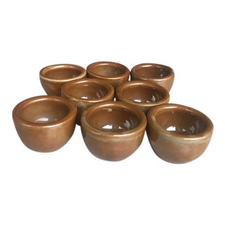 Pillivuyt French Mini Antique Herb, Salt or Butter Bowls - Set of 8 For Sale