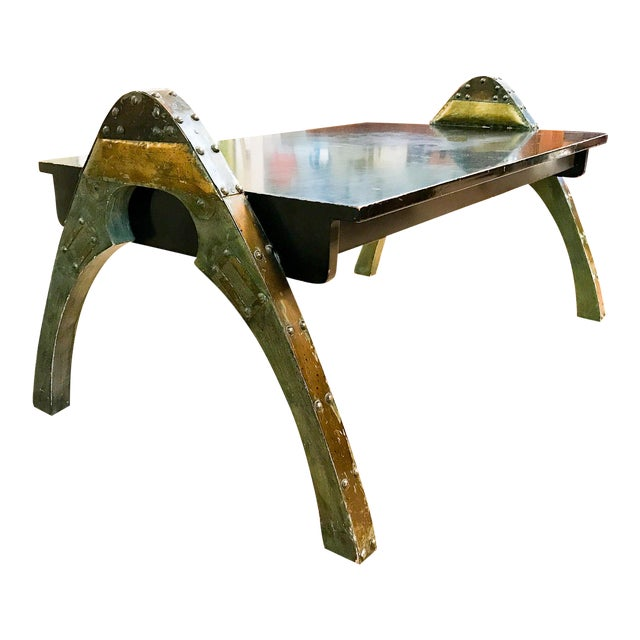 Mid Century Paul Evans Brutalist Metal Coffee Table - Image 1 of 10