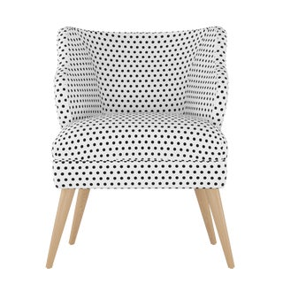 Modern Chair in Polka Dot White Oga For Sale