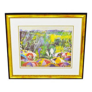 1973 LeRoy Neiman Arnie in the Rain Framed Lithograph With Coa on Verso For Sale