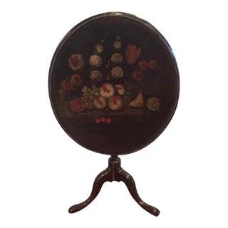 18th Century Dutch Tilt Top Table With Still Life For Sale