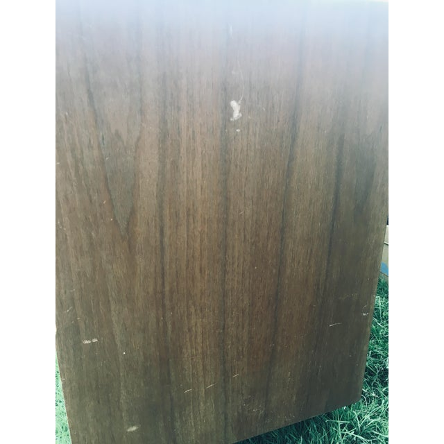 Metal 1974 Broyhill Premier Division Credenza With Mirror For Sale - Image 7 of 12