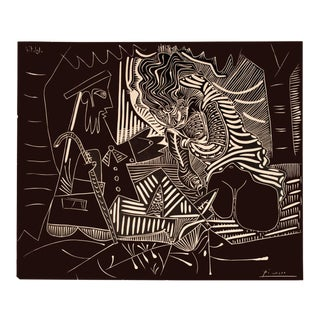 1972 Pablo Picasso 'Luncheon on the Grass' Cubism Brown,White Usa Lithograph For Sale