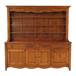 1990s Vintage French Provincial Style Open Hutch For Sale