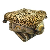 Image of 1970s Vintage Three Cushion Stool For Sale