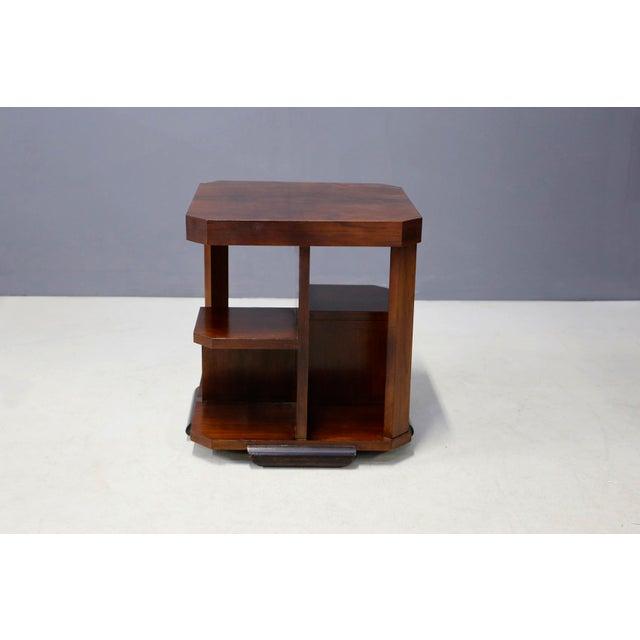 Art Deco Art Decò Walnut Coffe Table For Sale - Image 3 of 8