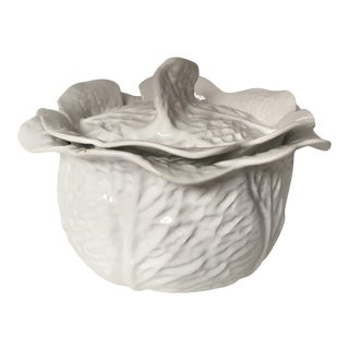 White Secla Serving Bowl & Lid