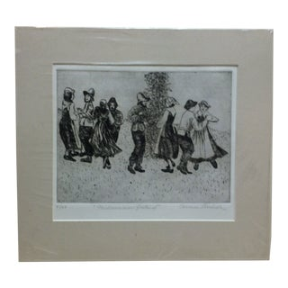 """""""Midsummer Festival"""" Signed Numbered (4/100) Print by Carmen Sherbeck For Sale"""