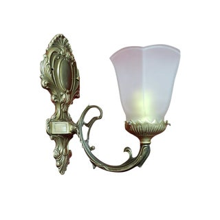 20th Century Traditional Bronze Wall Light Sconce For Sale
