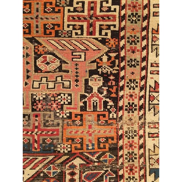 Antique Caucasian Shirvan Rug For Sale - Image 4 of 5