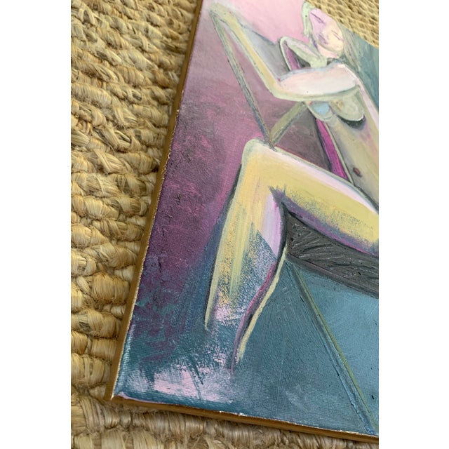 Original nude oil painting was painted from a live model. The beauty of the human form is captured with each stoke. This...