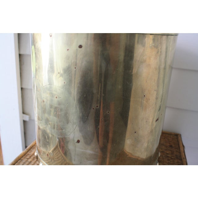 Vintage Mid-Century Chinoiserie Style Brass Planter For Sale - Image 9 of 13