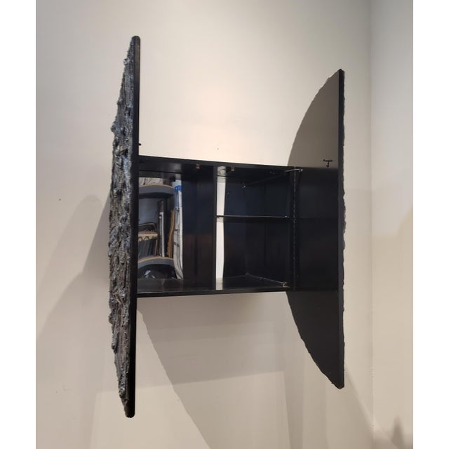 Wood Adrian Pearsall Brutalist Wall Mounted Dry Bar. For Sale - Image 7 of 10