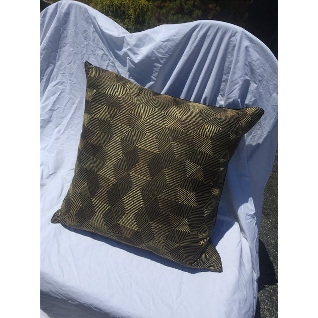 Black And Gold Geometric Pillow - Image 2 of 4
