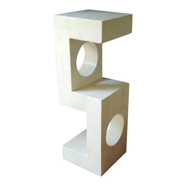1980s Sculptural Tessellated Stone Display Pedestal For Sale