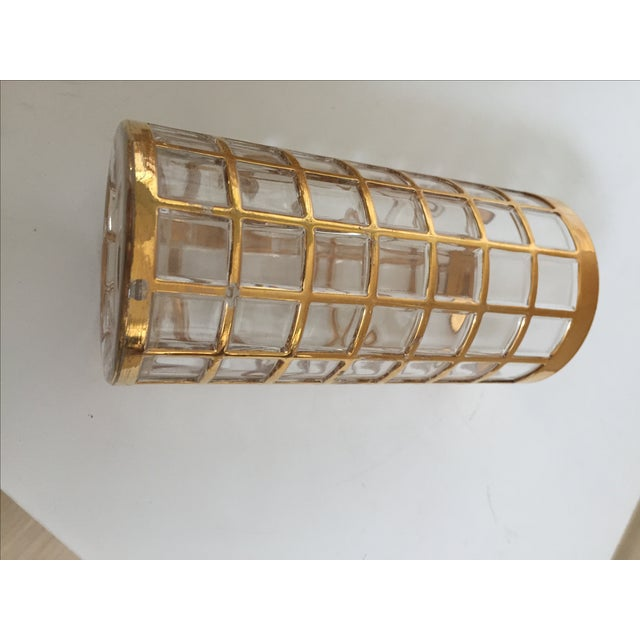 Glass Imperial Glass Toril De Oro Gold 15 Highball Drinks Glasses For Sale - Image 7 of 11