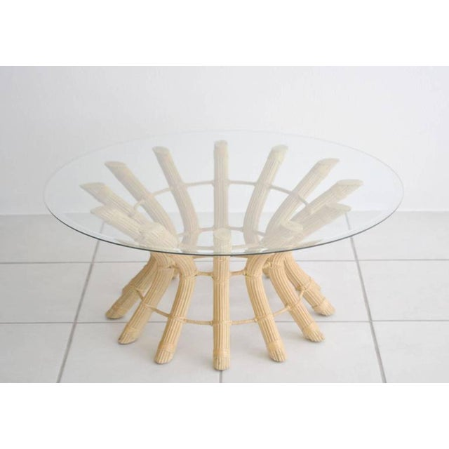 Wicker Sculptural Midcentury Rattan Cocktail Table For Sale - Image 7 of 8