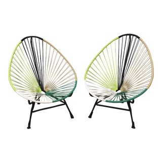 Pair of Acapulco Lounge Chairs, by Mexa For Sale