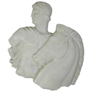 """Frederick Weinberg """"Roman With Steed"""" Plaque in Durex For Sale"""