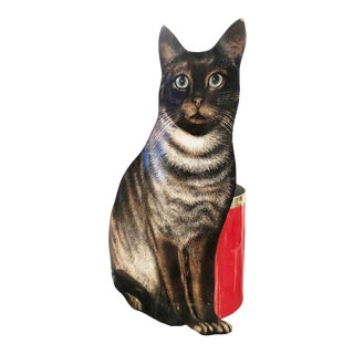 """Piero Fornasetti """"Cat"""" Waste Basket, Italy, 1960s For Sale"""