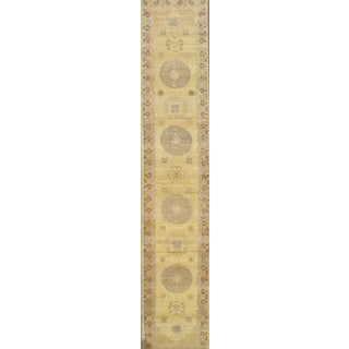 """Pasargad Ny Khotan Design Hand Knotted Runner Rug - 3' X 16'3"""" For Sale"""
