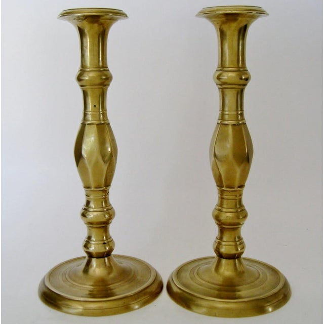 Vintage Brass Candlesticks - a Pair - Image 5 of 6