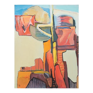 """1989 """"Monument"""" Abstract Painting by Fay Singer For Sale"""