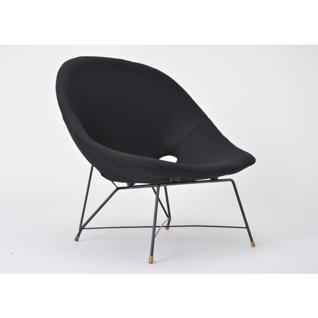 Black Italian Cosmos Lounge Chair by Augusto Bozzi for Saporiti For Sale - Image 10 of 11