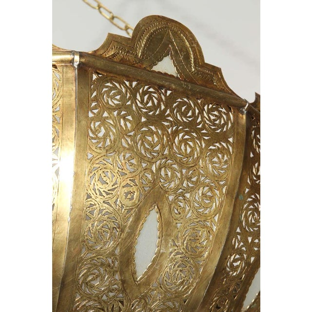 Metal Large Brass Moroccan Chandelier For Sale - Image 7 of 12
