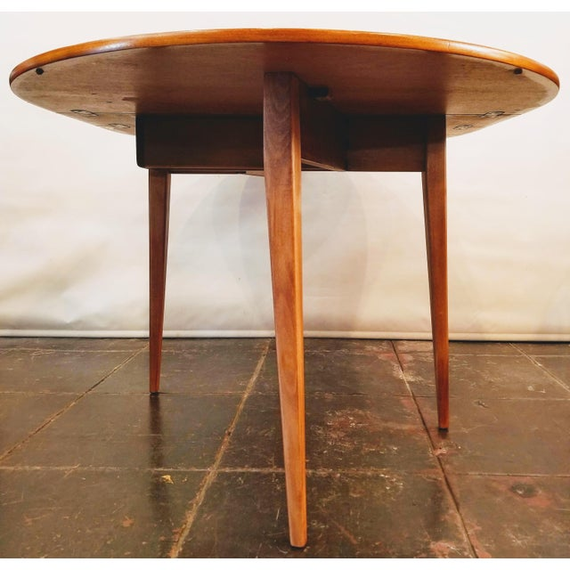 Mid-Century Danish Modern Sutcliffe of Todmorden S Form Drop Leaf Table For Sale - Image 4 of 12