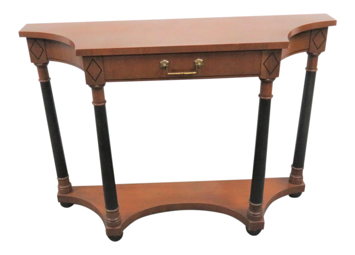 French Empire Hekman Cherrywood Console Table