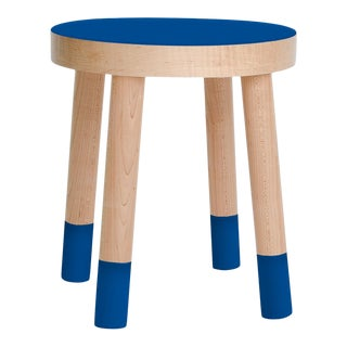 Poco Kids Chair in Maple With Pacific Blue Finish For Sale
