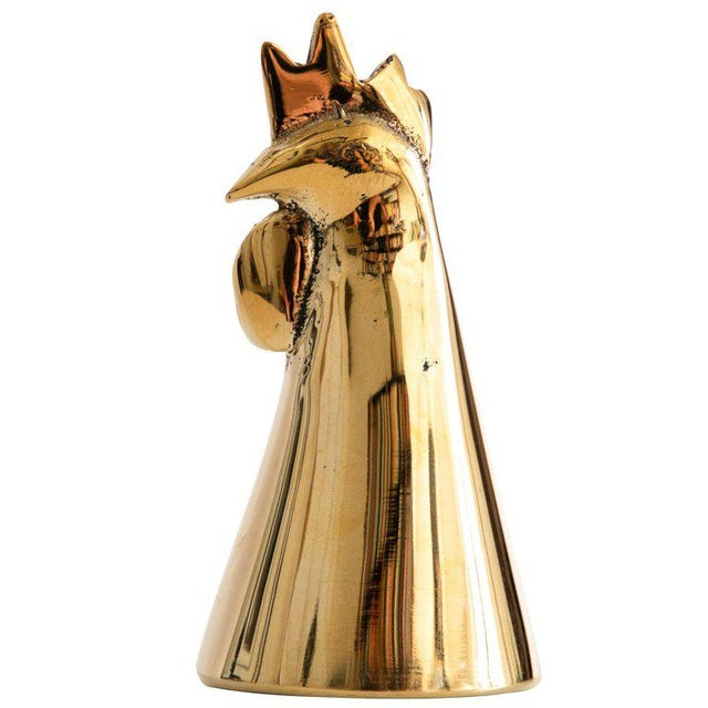 Brass Mid-Century Modern Carl Auböck Model #4072/G 'Rooster' Brass Bell For Sale - Image 7 of 7