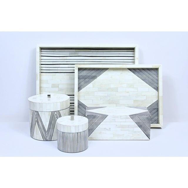Pinstripe II Tray, Medium For Sale - Image 4 of 5
