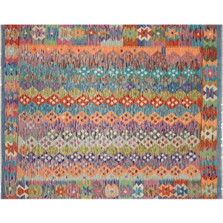 "Nalbandian - Contemporary Afghan Maimane Kilim - 5'2"" X 6'5"" For Sale"