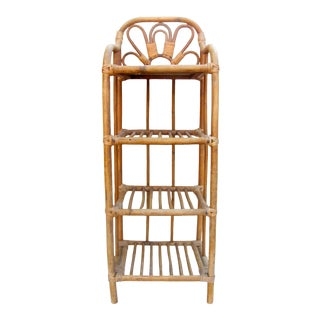 Bent Bamboo / Rattan & Reed Etagere For Sale