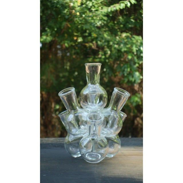 Mid-Century Modern Glass Bottle Sculpture - Image 2 of 8
