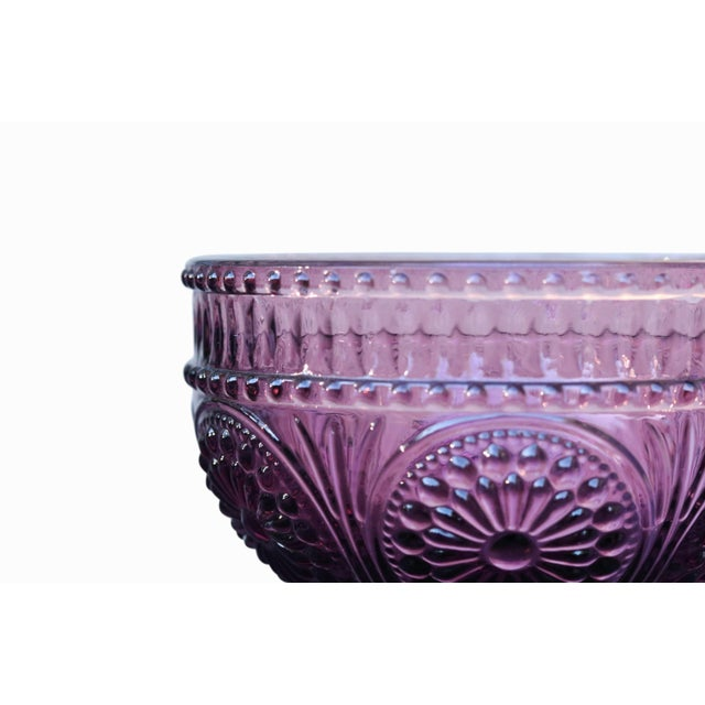 Plum Colored Glass Dessert Dishes - Set of 6 For Sale - Image 5 of 6