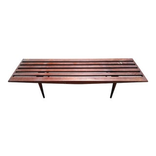 1960s Mid Century Modern Slat Bench For Sale