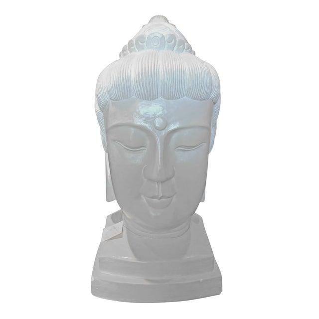 Large Plaster Buddah Bust - Image 1 of 4
