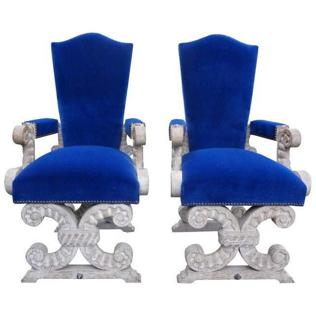 French 1940's Cerused Oak Chairs Attributed to Francisque Chaleyssin - a Pair For Sale - Image 13 of 13